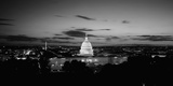 Government Building Lit Up at Night, Us Capitol Building, Washington Dc, USA Photographic Print