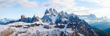 Snow Covered Mountains, Dolomites, Dolomiti Di Sesto Nature Park, Hochpustertal, Alta Pusteria Photographic Print
