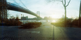 Suspension Bridge over a River, Williamsburg Bridge, East River, Lower East Side, Manhattan Photographic Print