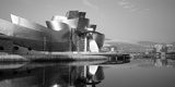 Reflection of a Museum on Water, Guggenheim Musuem, Bilbao, Spain Photographic Print