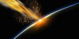 Meteor Hitting Earth Photographic Print