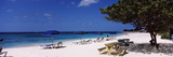 Beach Chairs on the Beach, Shoal Bay Beach, Anguilla Photographic Print