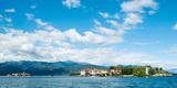 Buildings on an Island in a Lake, Isola Dei Pescatori, Isola Bella, Stresa, Lake Maggiore Photographic Print