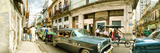 Old Cars on a Street, Havana, Cuba Photographic Print