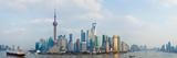 Buildings at the Waterfront, Pudong, Huangpu River, Shanghai, China Fotodruck