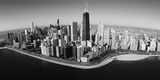 Aerial View of Buildings in a City, Lake Michigan, Lake Shore Drive, Chicago, Illinois, USA Photographic Print