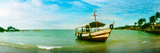 Wooden Boat Moored on the Beach, Morro De Sao Paulo, Tinhare, Cairu, Bahia, Brazil Photographic Print