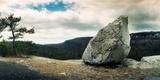 Boulder Along the Gertrude's Nose, Minnewaska State Park, Catskill Mountains, New York State, USA Photographic Print