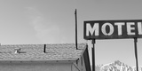 Low Angle View of a Motel Sign, Eastern Sierra, Lone Pine, California, USA Photographic Print