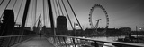 Bridge across a River with a Ferris Wheel in the Background, Golden Jubilee Bridge Photographic Print