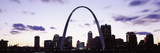 Gateway Arch with City Skyline at Sunset, St. Louis, Missouri, USA 2013 Photographic Print