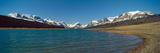 Lake with Snow Covered Mountains in the Background, Sherburne Lake, Us Glacier National Park Photographic Print