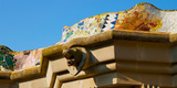 Architectural Detail of a Building, Park Guell, Barcelona, Catalonia, Spain Photographic Print