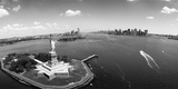 Aerial View of a Statue, Statue of Liberty, New York City, New York State, USA Photographic Print
