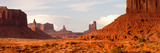 Buttes Rock Formations at Monument Valley, Utah-Arizona Border, USA Photographic Print