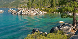Boulders at Sand Harbor, Lake Tahoe, Nevada, USA Photographic Print