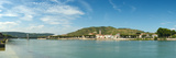 Town at the Waterfront, Vineyards on the Hill in Background, Tain-L'Hermitage, Rhone River Photographic Print
