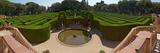 High Angle View of a Formal Garden, Horta Labyrinth Park, Horta-Guinardo, Barcelona, Catalonia Photographic Print