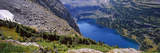 High Angle View of a Lake, Hidden Lake, Us Glacier National Park, Montana, USA Photographic Print