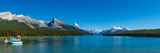 Lake with Mountains in the Background, Maligne Lake, Jasper National Park, Alberta, Canada Photographic Print