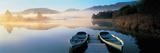 Rowboats at the Lakeside, English Lake District, Grasmere, Cumbria, England Photographic Print
