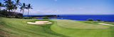 Golf Course at the Oceanside, the Manele Golf Course, Lanai City, Hawaii, USA Papier Photo
