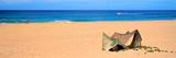 Tent on the Beach, Polihale State Park, Kauai, Hawaii, USA Photographic Print