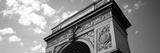 Low Angle View of an Arch, Washington Square Arch, Washington Square Park, Manhattan Photographic Print