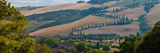 High Angle View of Winding Road in Valley, Tuscany, Italy Photographic Print