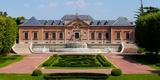 Facade of a Palace, Palauet Albeniz, Montjuic, Barcelona, Catalonia, Spain Photographic Print