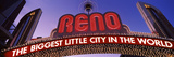 Low Angle View of the Reno Arch at Dusk, Virginia Street, Reno, Nevada, USA Photographic Print