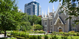Assembly Hall in a City, Salt Lake Assembly Hall, Temple Square, Salt Lake City, Utah, USA Photographic Print