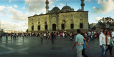 Courtyard in Front of Yeni Cami, Eminonu District, Istanbul, Turkey Photographic Print