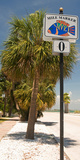 Mile Marker Zero at Pass-A-Grille, St. Pete Beach, Tampa Bay Area, Tampa Bay, Florida, USA Photographic Print