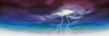 Colored Stormy Sky with Angry Lightning Photographic Print
