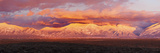 Sunset over Mountain Range, Sangre De Cristo Mountains, Taos, Taos County, New Mexico, USA Photographic Print
