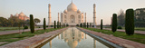 Reflection of a Mausoleum in Water, Taj Mahal, Agra, Uttar Pradesh, India Papier Photo