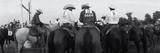 Cowboys on Horses at Rodeo, Wichita Falls, Texas, USA Photographic Print