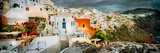 Storm Cloud over the Santorini, Cyclades Islands, Greece Photographic Print