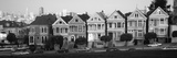 Row Houses in a City, Postcard Row, the Seven Sisters, Painted Ladies, Alamo Square Fotografická reprodukce