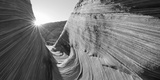 Sandstone Rock Formations, the Wave, Coyote Buttes, Utah, USA Photographic Print