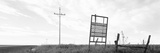 Signboard in the Field, Manhattan, Kansas, USA Photographic Print