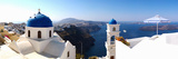Rooftop View of Buildings at the Waterfront, Santorini, Greece Photographic Print