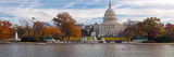 Fall View of Reflecting Pool and the Capitol Building, Washington Dc, USA Photographic Print