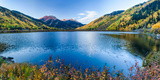 Crystal Lake Surrounded by Mountains, Ironton Park, Million Dollar Highway, Red Mountain Photographic Print