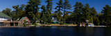 Cottages at the Lakeside, Lake Muskoka, Ontario, Canada Photographic Print