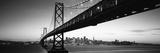 Bridge across a Bay with City Skyline in the Background, Bay Bridge, San Francisco Bay Fotografie-Druck