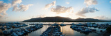 Boats at a Marina at Dusk, Shangri-La Hotel, Cairns, Queensland, Australia Photographic Print