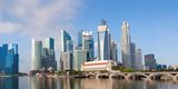 Buildings at the Waterfront, Singapore City, Singapore Photographic Print