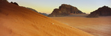 Rock Formations in a Desert, Jebel Qatar, Wadi Rum, Jordan Photographic Print
